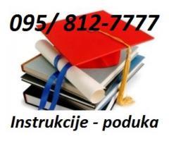 POMOĆ PRI UČENJU, klasične poduke ili preko interneta (putem SKYPEA)