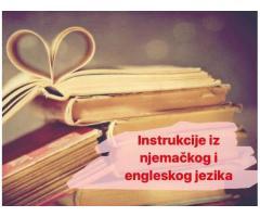 Instrukcije njemačkog i engleskog jezika