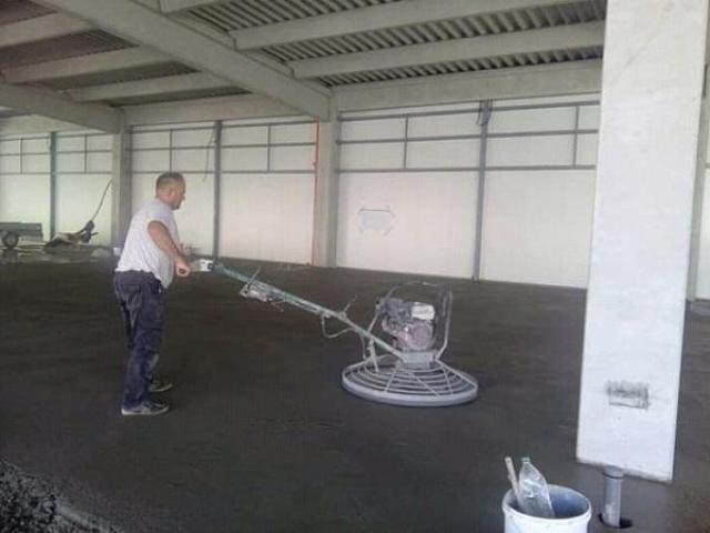 Ferobeton - industrijski podovi -  betoniranje