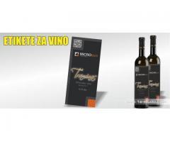 Etikete za vino, rakiju, ulje, likere, med